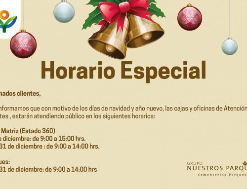 Conoce los horarios especiales para diciembre
