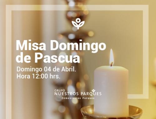 Invitación Misa domingo de Pascua
