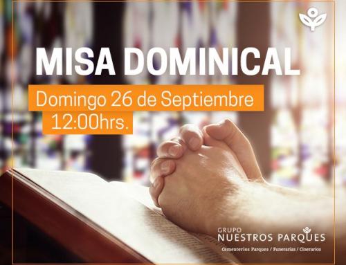 Invitación misa dominical 26 de septiembre