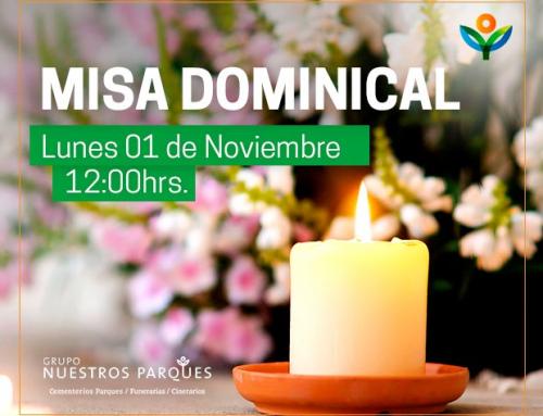 Invitación misa dominical 1° de Noviembre